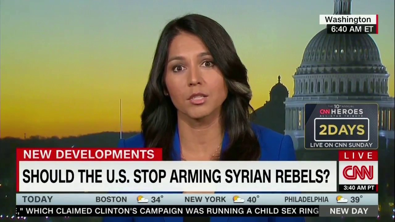 Tulsi CNN arming rebels