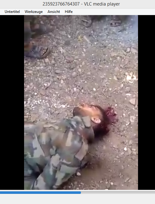 Murdered syrian soldier