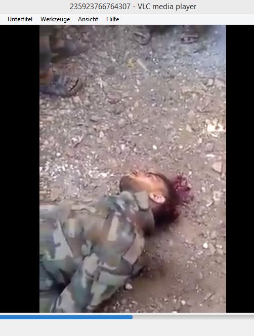 Murdered syrian soldier